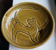 small saucer with carving - sold